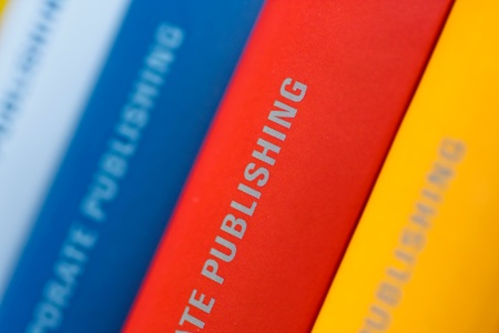 Colorful collection of annual reports in a row Stock Photo - 12002174