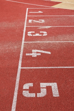 all weather: Running track lines with starting numbers