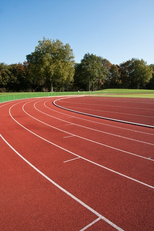 Running track lines on a sunny day photo