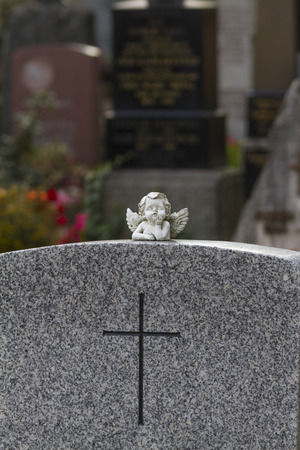 Angel on a grave stone