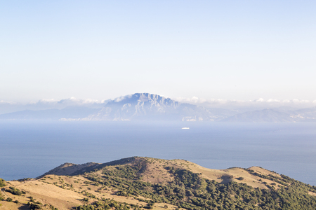 View across the Strait of Gibraltar from Spain towards Africa