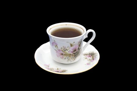 Isolated cup of hot tea suitable for magazines etc...