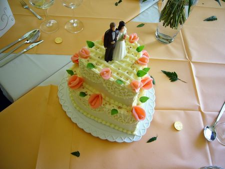 either: A really nice wedding cake. And it tasted very good either...