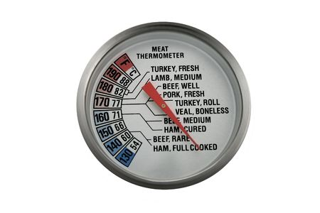 A meat thermometer you can use in most kitchens. Stock Photo