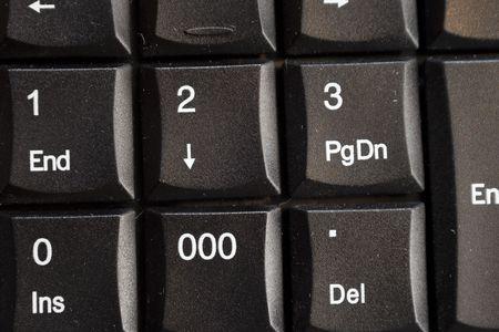 teclado num�rico: A close-up de un teclado num�rico o el teclado.