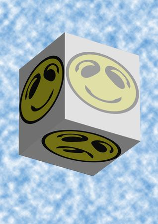 Smiley Faces Coming in a box Stock Photo - 1282044