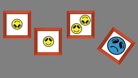 Smiley Faces in Pictures Stock Photo - 1282088