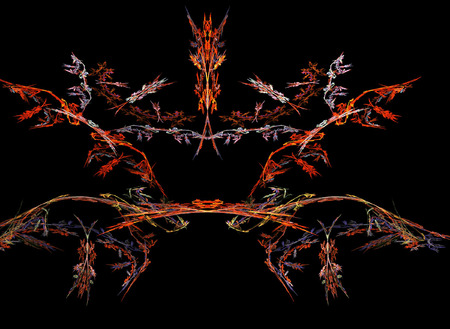 bilateral: abstract bilateral flame on the black background