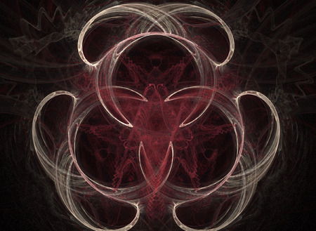 digitally generated: abstract cirular flame on the black background Stock Photo