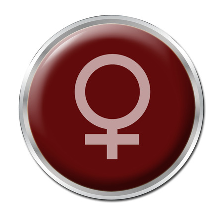 red button with the symbol of a woman Stock Photo - 1432403