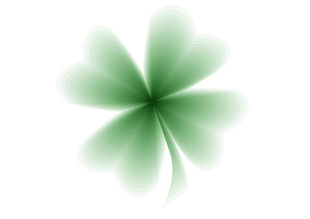 quarterfoil: An illustration of a green quarterfoil on the white background