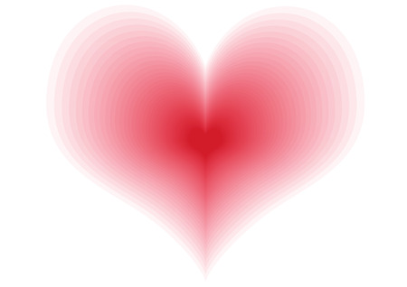 heart very: A very big red heart on the white background Stock Photo