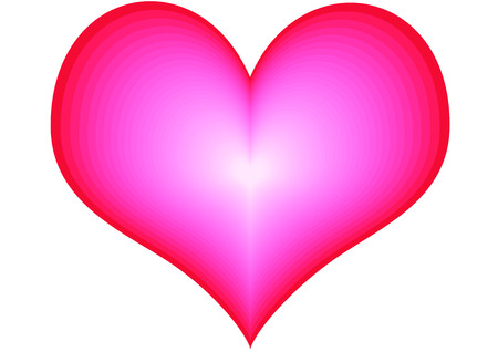 A very big red heart on the white background Stock Photo