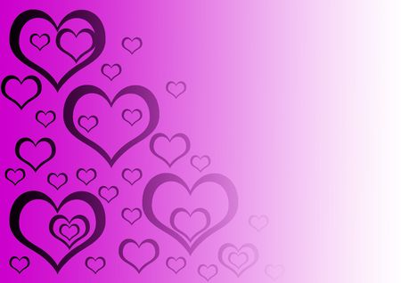 gradient background with purple hearts on it photo
