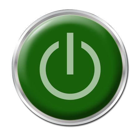 Green button with the symbol
