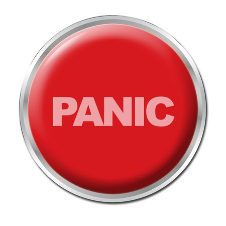 Red round button with the word