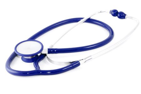 A common clinical stethoscope (phonendoscope) - close up