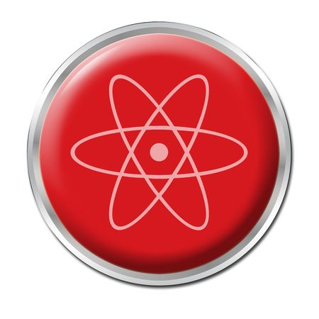 disastrous: Red button with the symbol for radioactivity