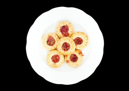 teacake: a white plate with sweet tasty teacakes