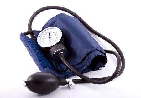 A common clinical  sphygmomanometer or tonometer - close up photo