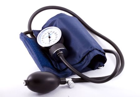 A common clinical  sphygmomanometer or tonometer - close up Stock Photo