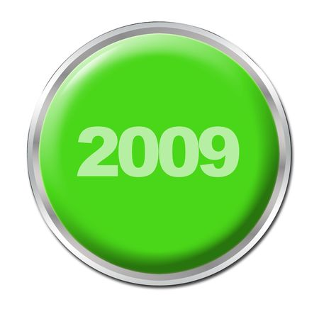 a green button starting the year 2009 photo