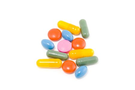 a few various kinds of drugs in different colours Stock Photo