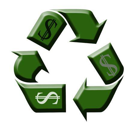 wirtschaftskrise: Recycling-Leistungs-Verh�ltnis in den Tag der Wirtschaftskrise