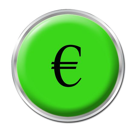 conjuncture: isolated round button starting the economic help