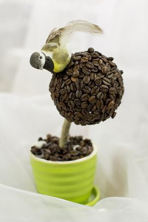 arbol de cafe: Hecho a mano cafeto. Regalo. Foto de archivo
