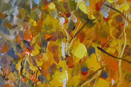 tree texture: Big texture leaves, tree branches Close up fragment , Palette knife leaves, . Macro artists leaves, tree branches, texture mixed oil paints, tree branches.
