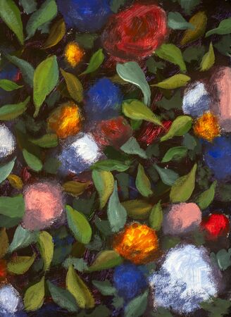 Vintage old flower backgrounds artwork art - vintage effect style hand painted acrylic painting Zdjęcie Seryjne
