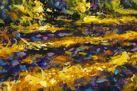 Impressionism close-up painting sunny sun sunlight autumn road Zdjęcie Seryjne
