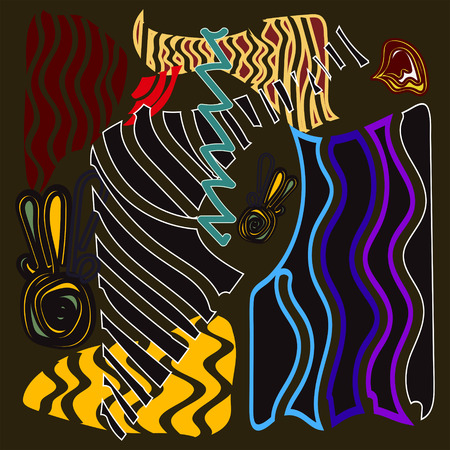 hot line: abstraction, africa, color, hot, line, illustration, vector
