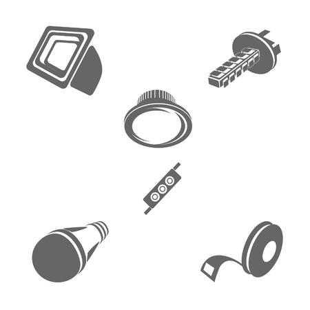 led lighting: icons, lighting, LED ribbon light, spotlight,style, image