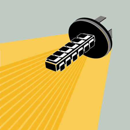 chrome base: Car Lamp;  light, bulb, vector, lamps Illustration