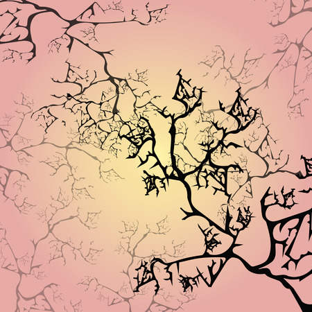 cracking: set of multicolored cracking branches
