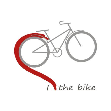 a bike. a heart. I love bike