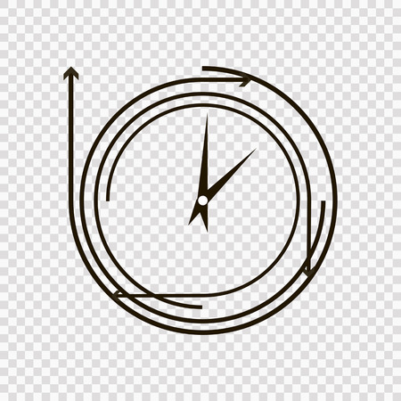 time concept or clock business icon. Creative logotype design template