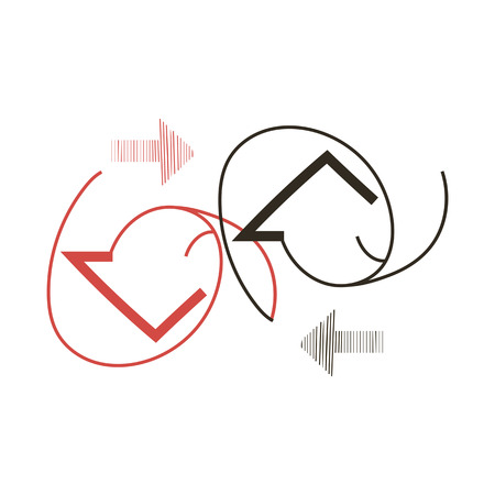 EPS8 vector illustration of icons with arrows