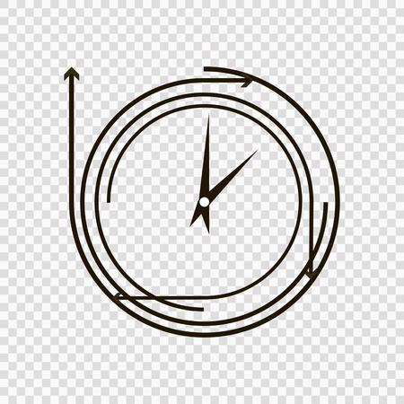 time concept or clock business icon. Creative design template Ilustração
