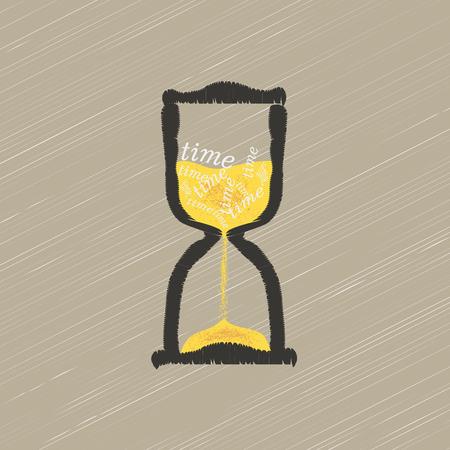 time concept or clock business icon. Ilustração