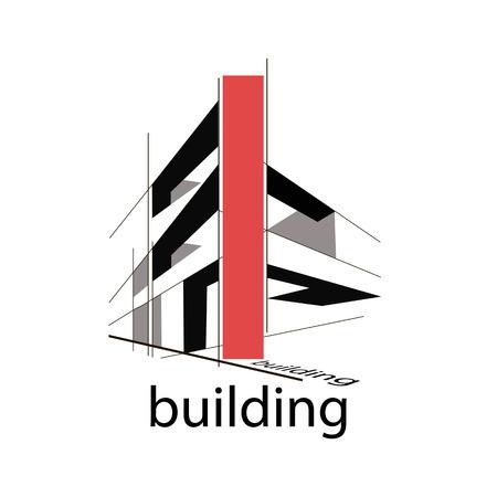 design, construction logo Ilustração