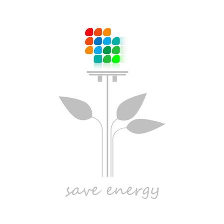 energy saving, light-emitting diodes Ilustração