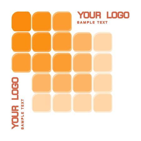 LED logo. LEDs. Offset monochrome squares.