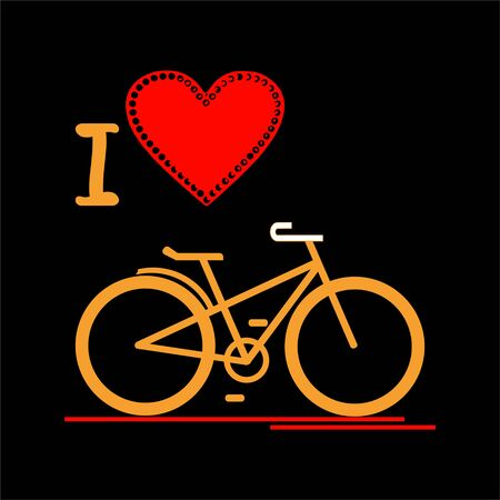 I love the bike. The image of a bicycle on a dark background.