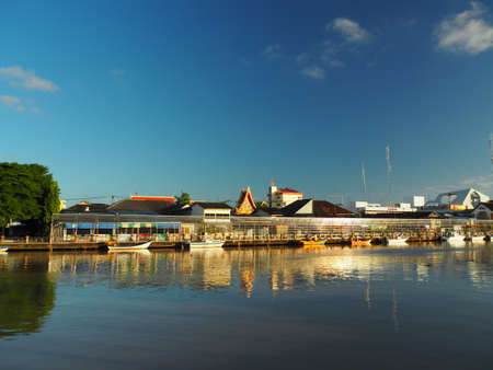 pattani thailand: Landscape Of Riverside Community In Pattani, An East-Coast Province In The South Of Thailand
