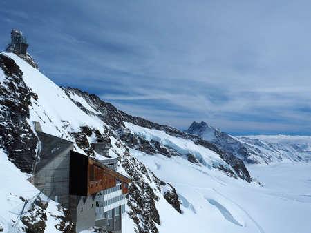 Sphinx Observatory, Jungfrau Plateau, Top of Europe, Swiss Alps, Switzerland Stock Photo