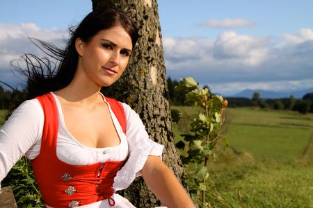 dirndl dress: Home Country Stock Photo