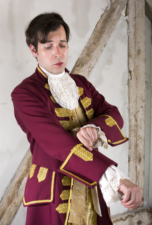 livery: portrait of a nobleman in a red livery